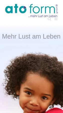 Vorschau der mobilen Webseite www.ato-form.com, Ato Form GmbH