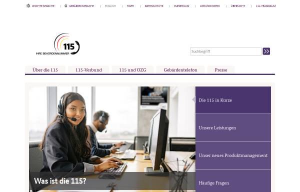 Vorschau von www.d115.de, D115 - Einheitliche Behördenrufnummer