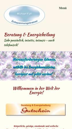 Vorschau der mobilen Webseite michael-fuss.de, Michael Fuß