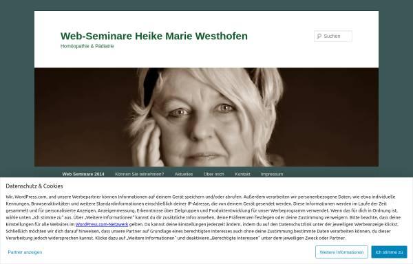 Vorschau von webinarepaedihom.wordpress.com, Heike-Westhofen Seminare