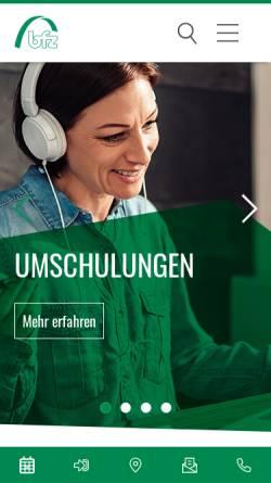 Vorschau der mobilen Webseite www.bfz.de, Berufliche Fortbildungszentren der Bayerischen Wirtschaft (bfz) gGmbH