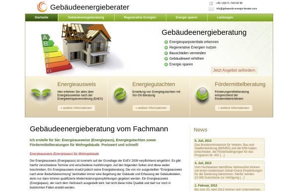 Vorschau von www.gebaeude-energie-berater.com, Töpp, Hans-Dieter