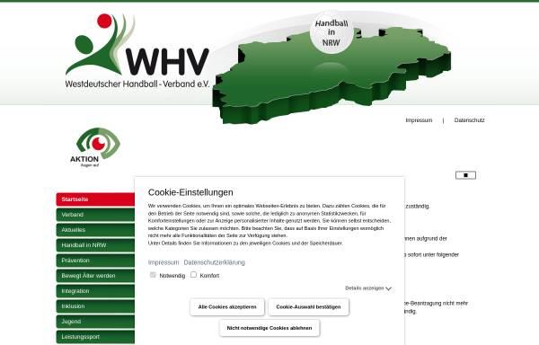 Vorschau von www.westdeutscher-handball-verband.de, Westdeutscher Handball-Verband e.V.