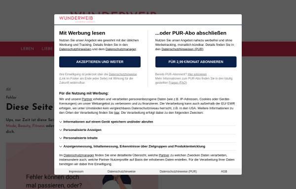 Vorschau von wohnidee.wunderweib.de, Wohnidee, Heinrich Bauer Verlag KG
