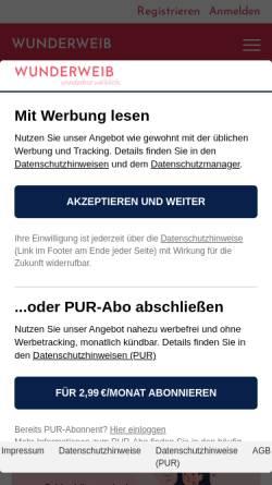 Vorschau der mobilen Webseite wohnidee.wunderweib.de, Wohnidee, Heinrich Bauer Verlag KG