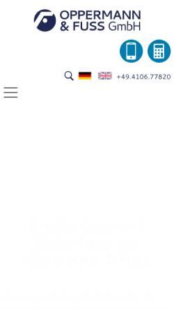 Vorschau der mobilen Webseite www.oppermann-fuss.de, Oppermann & Fuss GmbH