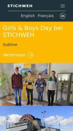 Vorschau der mobilen Webseite www.smt-stichweh.de, Stichweh Maschinen & Service GmbH