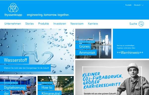 Vorschau von www.thyssenkrupp-foerdertechnik.de, ThyssenKrupp Fördertechnik GmbH