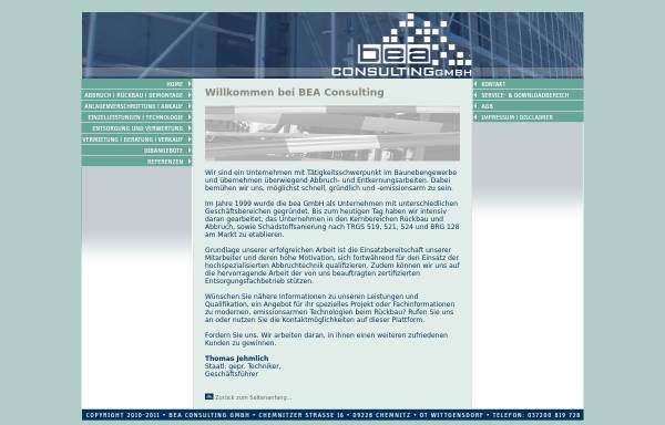 Vorschau von www.bea-consulting.de, BEA Consulting GmbH