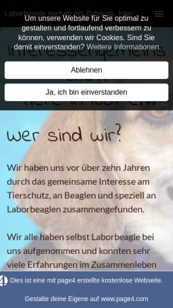 Vorschau der mobilen Webseite www.laborbeagle.eu, Interessengemeinschaft Tiere in Not e. V.
