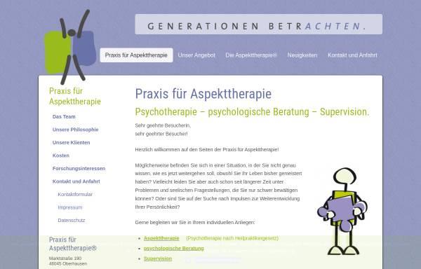 Vorschau von www.generationen-betrachten.de, Praxisgemeinschaft für Erwachsenenbildung und Psychotherapie