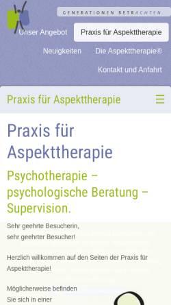 Vorschau der mobilen Webseite www.generationen-betrachten.de, Praxisgemeinschaft für Erwachsenenbildung und Psychotherapie
