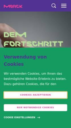 Vorschau der mobilen Webseite www.merck.de, Merck KGaA