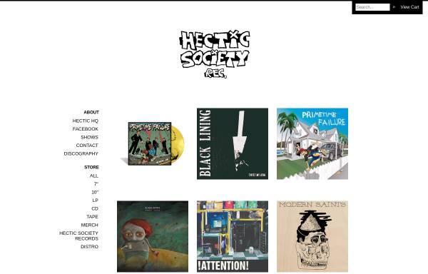 Vorschau von www.hectic-society-records.com, Hectic Society Records