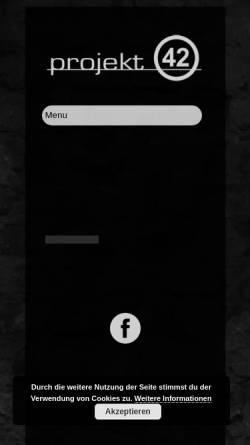 Vorschau der mobilen Webseite www.projekt42.info, Projekt 42