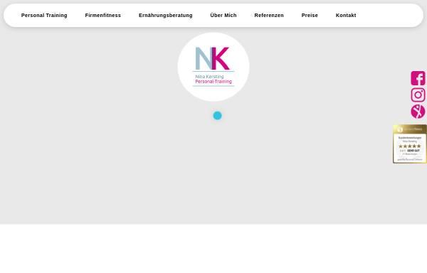 Vorschau von www.nk-personal-training.com, Nina Kersting, Personal Trainer