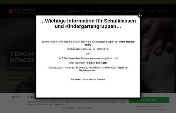 Vorschau von www.tiergarten-moenchengladbach.de, Tiergarten e.V.