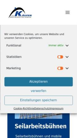 Vorschau der mobilen Webseite www.kaeufer.de, Gebr. Käufer GmbH