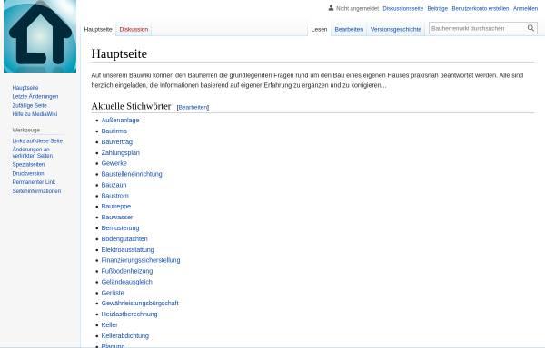 Vorschau von www.bauherrenwiki.de, Bauherrenwiki
