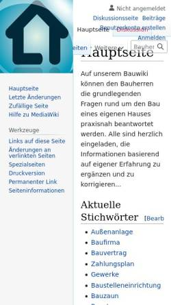 Vorschau der mobilen Webseite www.bauherrenwiki.de, Bauherrenwiki