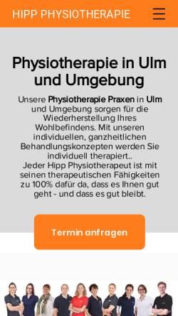 Vorschau der mobilen Webseite www.hipp-physiotherapie.de, Hipp Physiotherapie