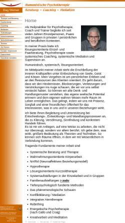 Vorschau der mobilen Webseite www.dag-werner.de, Dag Werner