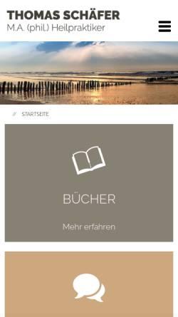 Vorschau der mobilen Webseite www.thomas-schaefer.org, Familienaufstellungen mit Thomas Schäfer