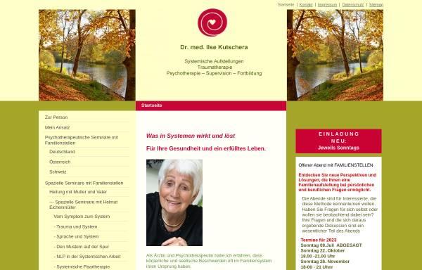 Vorschau von ilse-kutschera.de, Dr. med. llse Kutschera