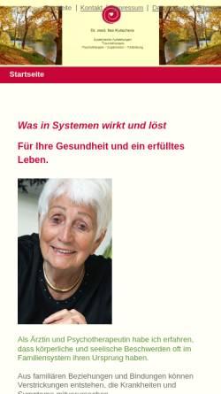 Vorschau der mobilen Webseite ilse-kutschera.de, Dr. med. llse Kutschera
