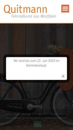 Vorschau der mobilen Webseite www.quitmann-ms.de, Quitmann