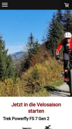 Vorschau der mobilen Webseite www.veloatelier.com, Veloatelier
