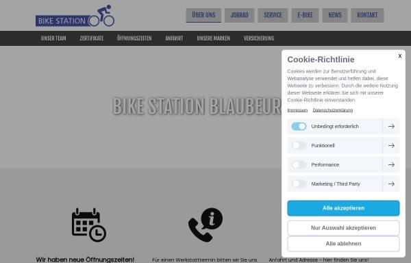 Vorschau von www.bikestation-blautopf.de, Bike Station Blaubeuren