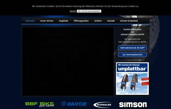 Vorschau von www.berlin-bikes.de, Gönnes Zweiradcenter Berlin