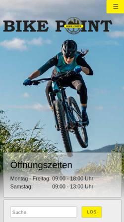 Vorschau der mobilen Webseite www.bike-point-jena.de, Bike Point Jena, Peter Michalak e. K.