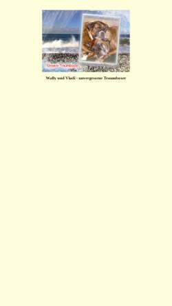 Vorschau der mobilen Webseite www.traumboxer.de, Wally und Vladimir