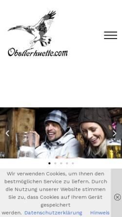 Vorschau der mobilen Webseite obstlerhuette.com, Eugens Obstlerhuette