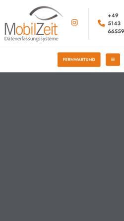 Vorschau der mobilen Webseite www.mobilzeit.de, MobilZeit GmbH