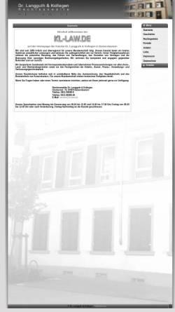 Vorschau der mobilen Webseite www.kl-law.de, Dr. Langguth & Kollegen Rechtsanwälte