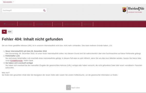 Vorschau von www.fin-rlp.de, Besitz- und Verkehrsteuerabteilung der Oberfinanzdirektion Koblenz