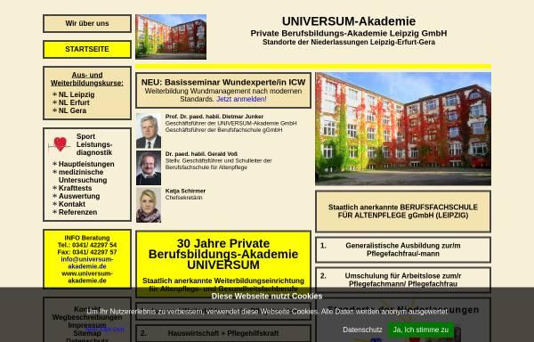 Vorschau von www.universum-akademie.de, Universum - Private Berufsbildungs-Akademie GmbH