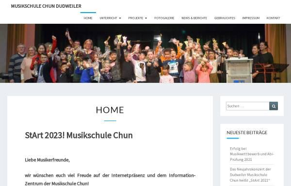 Vorschau von www.musikschule-chun.de, Musikschule Chun Dudweiler