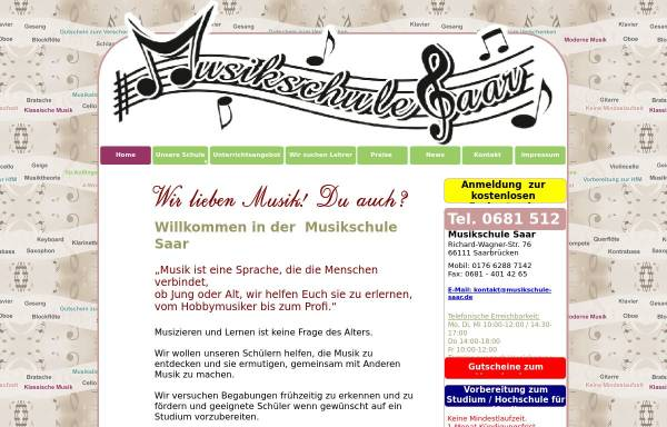 Vorschau von www.musikschule-saar.de, Musikschule Saar Said Glass