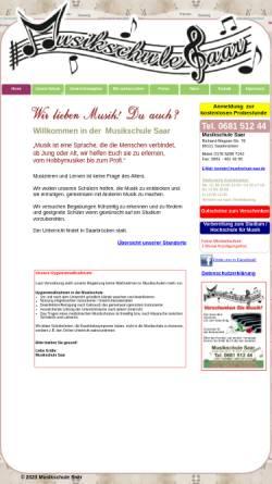 Vorschau der mobilen Webseite www.musikschule-saar.de, Musikschule Saar Said Glass