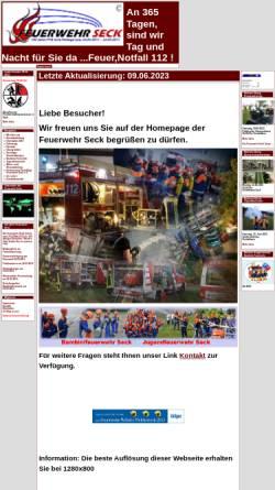 Vorschau der mobilen Webseite www.feuerwehr-seck.de, Freiwillige Feuerwehr Seck