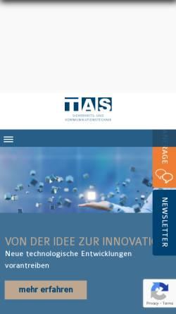 Vorschau der mobilen Webseite www.tas.de, TAS Telefonbau Arthur Schwabe GmbH & Co. KG