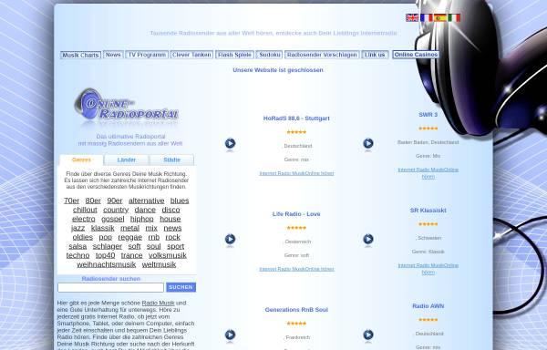 Vorschau von www.online-radioportal.de, Online-Radioportal