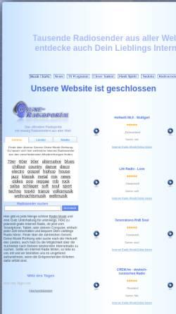 Vorschau der mobilen Webseite www.online-radioportal.de, Online-Radioportal