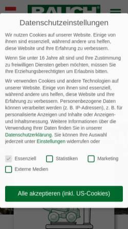 Vorschau der mobilen Webseite www.rauch.co.at, A. Rauch GmbH