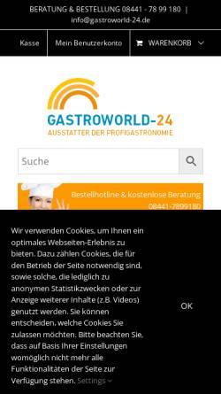 Vorschau der mobilen Webseite gastroworld-24.de, Gastroworld-24 Miroslav Nota