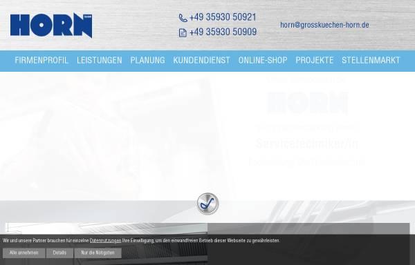 Vorschau von www.grosskuechen-horn.de, Horn GmbH